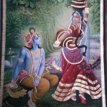 Radha Krishna Painting  By Kailash Sahu  Buy this from The Art and craft Gallery