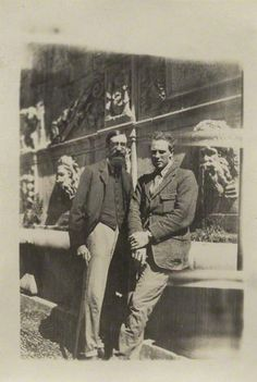Lytton Strachey with Ralph Partridge, the two men loved by artist Dora Carrington.
