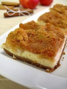 The one with all the tastes: Μηλόπιτα cheesecake Sweets Recipes, Fruit Recipes, Apple Recipes, Cake Recipes, Chicken Recipes, Recipies, Greek Sweets, Greek Desserts, Party Desserts