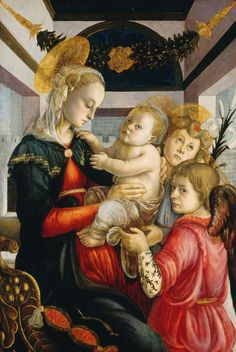 Botticelli, Madonna and Child with Angels 1465-70