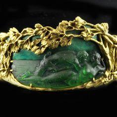 René Lalique gold and enamel bracelet Paris circa 1900