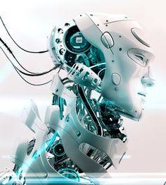 Intel Robot by Vladislav Ociacia A. I. Robot Looks Fantastic and Very Futuristic too