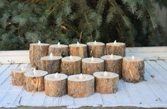 Unique Diy Outdoor Winter Decoration Ideas – Best Home Decorating Ideas Diy Christmas Decorations, Wedding Table Decorations, Log Centerpieces, Holiday Decorating, Decorating Ideas, Christmas Wood, Christmas Holidays, Christmas Crafts, Christmas Ideas