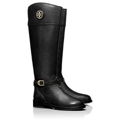 dba266d601a5 Tory Burch Teresa Black Leather Riding Boots tory burch teresa riding boots.  size 6.5.