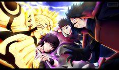 Anime Naruto  Sasuke Uchiha Madara Uchiha Obito Uchiha Papel de Parede