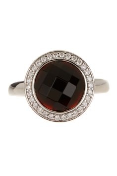 White Pave & Black Crystal Ring on @HauteLook