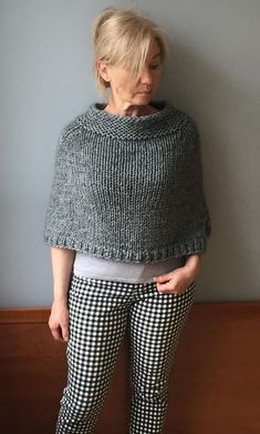 Search for a good shirt for women who exactly bold mother nature. Poncho Pullover, Alpaca Poncho, Wool Poncho, Poncho Sweater, Grey Poncho, Knitted Capelet, Knit Wrap, Knit Crochet, Clothes For Women