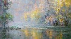 British Artist Rex PRESTON-Autumn Colours, Chee Dale