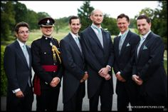 The groom and groomsmen at a Denton Hall, Yorkshire Wedding by Wedding Photographer Paul Rogers