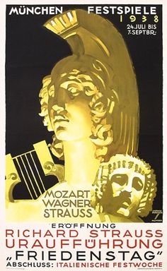 GERMANY: Ludwig Holwein, concert poster, 1938.