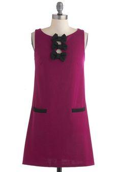 Plum Cheerful Dress, #ModCloth