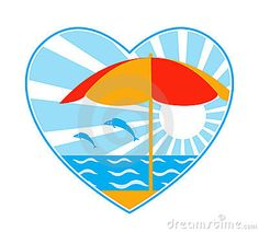 free beach graphics clipart 3d beach umbrella and ball with rh pinterest com Heart Beach Hawaii Beach Clip Art