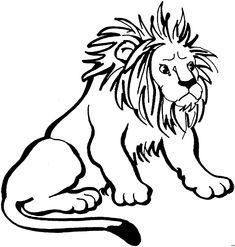 löwe ausmalbild – Ausmalbilder für kinder
