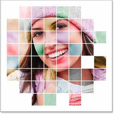 A colorized grid photo display created in Photoshop. Image © 2014 Photoshop Essentials.com.