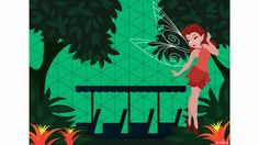 Today's Disney Doodle takes a look at what Rosetta, the Garden Fairy of the Disney Fairies, would do if she had the chance to visit a Disney theme park.