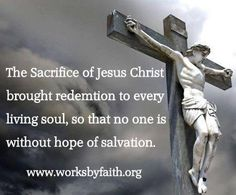 The Sacrifice of Jesus