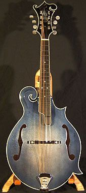 """Hill """"Prestige Blueberry"""" mandolin. Peter always claims he wants one, but we all know he likes his stringed instruments big and loud."""