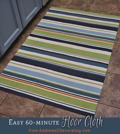 DIY: Make An Easy Floor Cloth In 60 Minutes Or Less