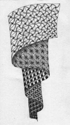 (2) 3 Zentangle pictures art. - Bilder Land
