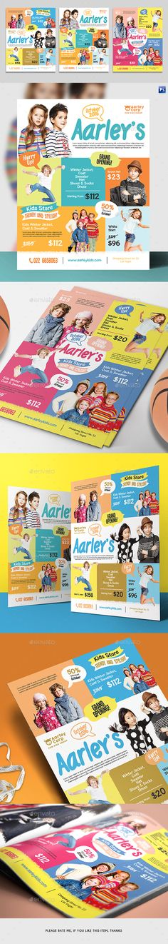 Kids Store Flyer / Magazine Ad — Photoshop PSD #magazine ad #8.5x11 • Available here ➝ https://graphicriver.net/item/kids-store-flyer-magazine-ad/20935128?ref=pxcr