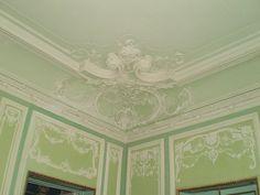 Ancien Hôtel Particulier du Ministre de la Guerre - 4 Rue Sadoya - Saint Petersbourg - Construit de 1872 à 1874 par l'architecte Rudolf Bogdanovich Bernhard - Aujourd'hui Hôtel Saint Michel - Le Salon Vert.