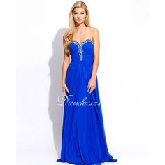 this Blue Strapless Chiffon Prom Dress is pritty and out going