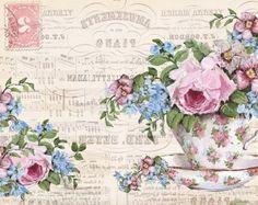 . Vintage Diy, Decoupage Vintage, Decoupage Paper, Vintage Labels, Vintage Cards, Vintage Images, Vintage Paper, Decoupage Printables, Foto Transfer