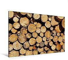 Premium Textil-Leinwand 120 cm x 80 cm quer gefällte Baumstämme am Wegesrand, Schottland Firewood, Texture, Crafts, Hd Images, Canvas Frame, Scotland, Wall Prints, Canvas, Surface Finish