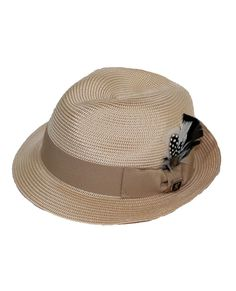 59801207f21e1e This Stacy Adams fedora features a braided texture with the grosgrain band  and feather accent bringing. Men's HatsHats ...