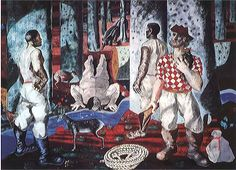 Entry into the Forest  by Cândido Portinari (1903 - 1962) is the second of four murals that he painted  for the Hispanic Reading Room in the Library of Congress in 1940.