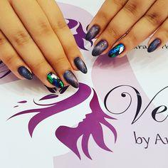 Ojă MAGNETICĂ si folie de transfer Nail Art, Nails, Painting, Beauty, Finger Nails, Ongles, Painting Art, Nail, Cosmetology