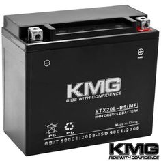 Kmg® Polaris 1507 V92C DC Clsc Deluxe Cruiser 1998-2004 YTX20L-BS Sealed Maintenace Free Battery High Performance 12V SMF OEM Replacement Maintenance Free Powersport Motorcycle ATV Scooter Snowmobile, Black