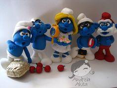 Os Smurfs by Andreia Akita, via Flickr