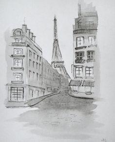 Eifel tower painting.
