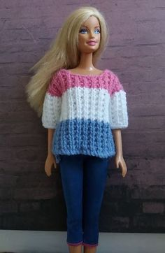 Linmary Knits: Barbie ribbed sweater