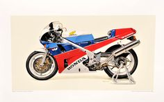 Honda RC30 Art Print by Seevert. 79.00 USD. (Click on photo for larger image) Photo found here: http://superbikeplanet.com/2012/Nov/121101RC30.htm