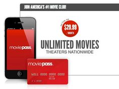 MoviePass Unlimited Movie Subscription - MoviePass gives you access to unlimited movies in theaters nationwide