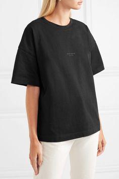 Acne Studios - Stellie printed cotton T-shirt Acne Studios, Printed Cotton, Tunic Tops, Prints, T Shirt, Woman, Image, Black, Fashion
