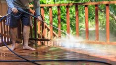Find out how to use an electric pressure washer. Helpful tips and advice on how to setup an electric pressure washer and use it safely. Pressure Washing Tips, Best Pressure Washer, Pressure Washers, Roof Cleaning, Deep Cleaning, Cleaning Hacks, Deck Maintenance, Ard Buffet, Home Selling Tips