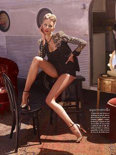 karolina kurkova4 Karolina Kurkova is Movie Star Glam for Vogue Mexicos June Cover Shoot
