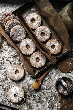 ..Twigg studios: ginger linzer cookies wirh butter caramel