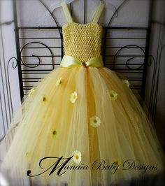 Yellow Tutu Dress / Spring Tutu / Flower Tutu / EasterTutu. $29.00, via Etsy.