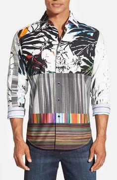 Robert Graham 'Passion Flower' Classic Fit Print Sport Shirt, Style RP151033, Summer 2015
