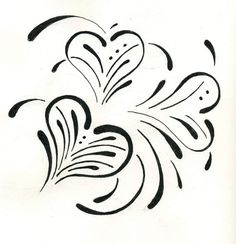 Heart Stencil by StampStencilCreate on Etsy