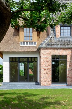 Best Home Exterior French Double Doors Ideas House Extension Design, House Design, Front Doors With Windows, Barn Renovation, Belgian Style, House Front Door, Castle House, Cottage Farmhouse, Brick Building