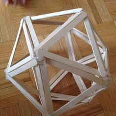 Popsicle Stick Icosahedron : 12 Steps (with Pictures) - Instructables Popsicle Stick Catapult, Diy Popsicle Stick Crafts, Popsicle Sticks, Craft Sticks, Pop Sicle, Box Container, House Plants Decor, Rainbow Crafts, Kids Room Art