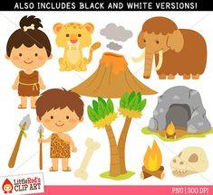 Items similar to Caveman Clipart - Color Clip Art and Blackline Digital Stamps on Etsy Popsicle Stick Crafts, Craft Stick Crafts, Preschool Crafts, Felt Crafts Diy, Paper Crafts, Graduation Clip Art, Dinosaur Classroom, Man Clipart, Prehistoric Age