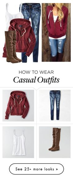 Casual outfit by karen-bachman on Polyvore featuring American Eagle Outfitters