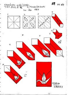 Bruno origami: Origami Envelope Tsuru