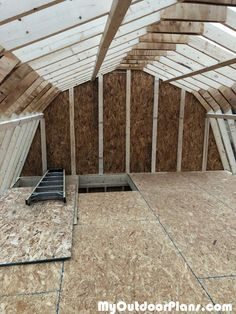 Diy shed plans with materials list and cheap shed building plans. Shed Plans 12x16, Shed House Plans, Shed Building Plans, Diy Shed Plans, Garage Plans, Shed With Loft, Run In Shed, Build A Playhouse, Wooden Playhouse